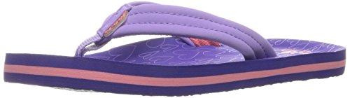 (Reef Girls' Little Ahi Sandal, Purple/Hearts, 3-4 M US Toddler)