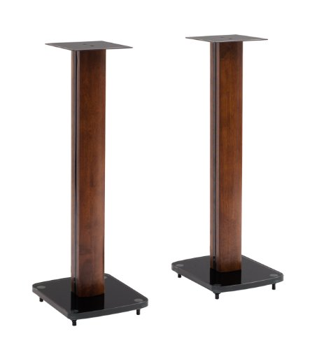 TransDeco Fixed Height Glass and Steel Speaker Stands, 30-Inch by TransDeco