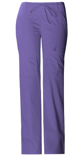 Cherokee Luxe Mock Wrap Junior Fit Flare Leg Pant-Blooming Violet,Large (Luxe Wrap Mock)