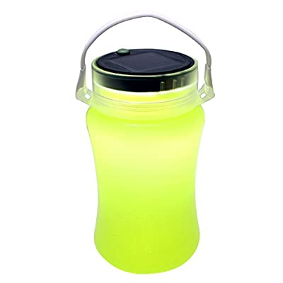 Outdoor Camping Lamp, Solar IP66 Waterproof Led Silicone Bottle Lantern flashlight, Storage Bottle with USB Cable, Rechargeable LED Lights Lantern