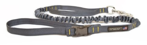 "Spindrift Max Walker Lead, Bungee Dog Leash, Granite, 3/4"" x 6ft"