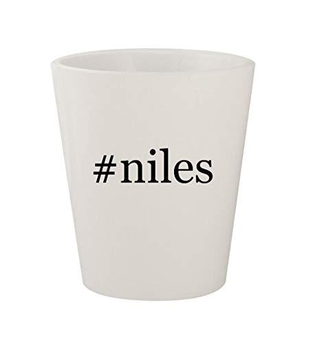 #niles - Ceramic White Hashtag 1.5oz Shot Glass
