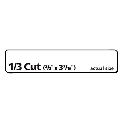 avery file folder labels  trueblock technology  permanent adhesive  2  3 u2033 x 3 16 u2033  750 labels