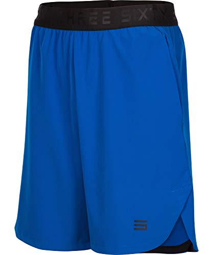 Dry Fit Gym Shorts for Men - Moisture Wicking Mens Shorts with Pockets and Adjustable Waistband Royal Blue