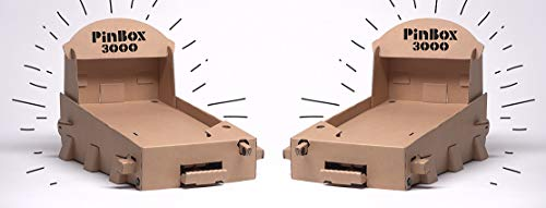 Set of 2 PinBox 3000 DIY Customizable Cardboard Make Your Own Pinball Machine Kit with No Tool Assembly