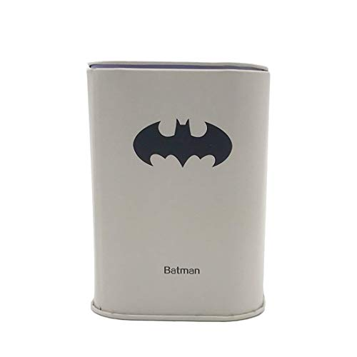 (Ayiguri Superhero Creative Piggy Bank Metal Money Box Coin Bank Tin Can Piggy Bank Rectangular Cute Cartoon Children's Gift Home Decoration (Batman))