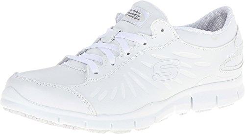 Skechers Work Relaxed Fit Eldred Dewey SR Womens Slip Resistant Sneakers White 11