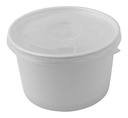 (100 Count Deli Containers Durable Food Storage Containers with Lids, Hot and Cold Disposable Containers Use for Frozen Desserts, Soups, or Any Food of Your Choice (20oz) )