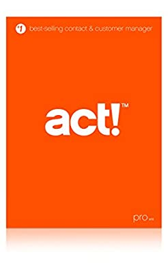 Act! Pro v18 Upgrade (2016) DVD - Includes 1 Hour Act! 101 Training Webinar
