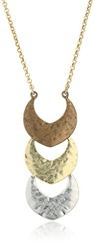 (Lucky Brand Tri Tone Pendant Necklace, 29