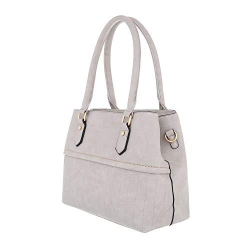 Gris clair à One à l'épaule Design pour Sac gris porter femme Size Ital 8HpqwAv