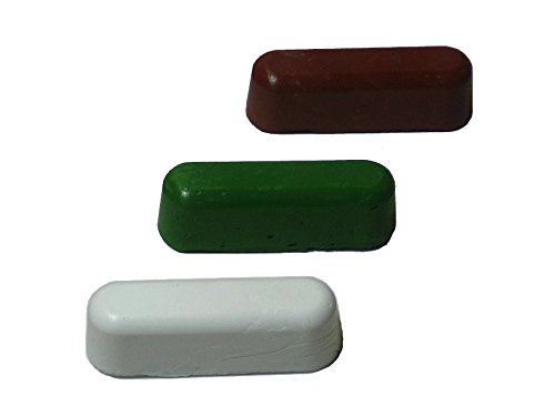 Jewelers Rouge Polishing Compound (Leather Strop Sharpening Polishing Compounds 3 One Oz. Bars (One of Each))