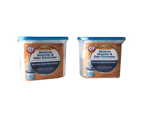 Arm & Hammer AH Refillable Tub 2-14 OZ Amazon Moisture Absorber, 2 Count, White,Blue