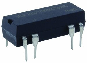 NTE Electronics R56S-5D.5-6D General Purpose Dual in Line Package DC Reed Relay with Internal Clamping Diode, SPDT, 0.5 AMP, 6 VDC