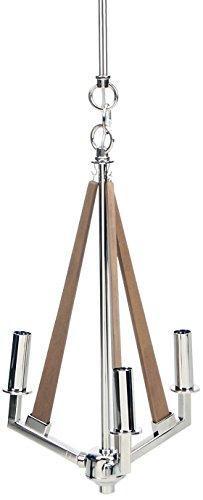 Elk Lighting 31473/3 Madera Collection 3 Light Chandelier In Polished Nickel -