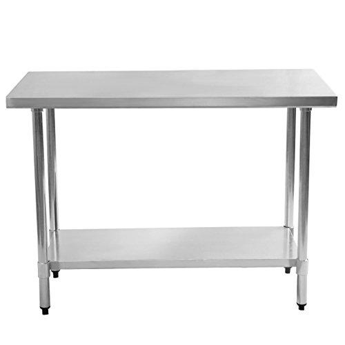 Giantex Stainless Steel Work Prep Table Commercial Kitchen Restaurant (24