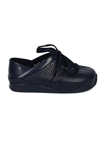 Melissa Mini Mini Love System PVC Perforated Lace up Sneaker HC08 - Navy Blue Mix (Size: Toddler 8) by Melissa (Image #1)