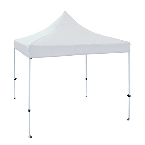 ALEKO GZF10X10WH Foldable Popup Polyester Gazebo Canopy Patio Coffee Shelter 10 x 10 Feet White For Sale