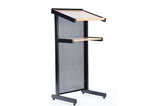 """Schoolgro MS Presentation Stand with""""F"""" Shape Stand - (Black, White)"""