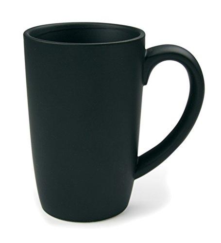 Omniware 1010887 Tall Easy Grip Mugs, Set of 4, 18 oz, Black