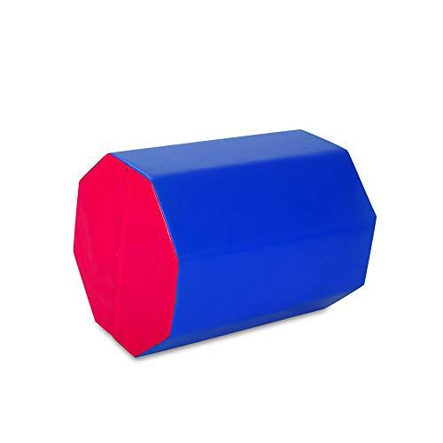 FurniTure 25″ x 30″ Gymnastics Mat Gymnastics Octagon Mats Octagon Tumbler Skill Shape Exercise Preschool Kids Gym Support Gymnastics Tumbling Aerobics, Blue Red