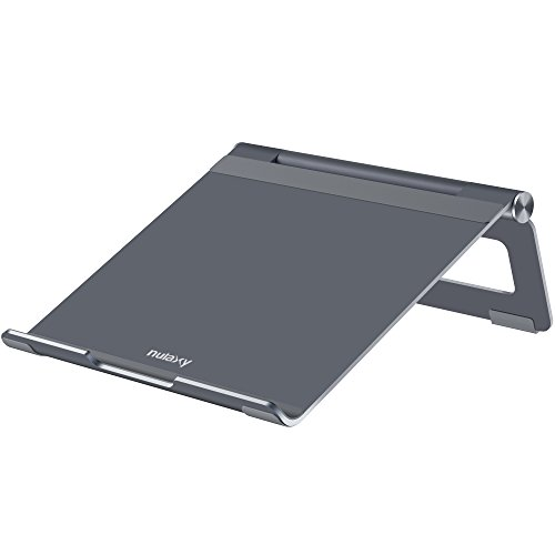 (Nulaxy Adjustable Multi-Angle Foldable Aluminum Laptop Stand for Macbook Pro/Air, Apple Laptop, 7-17