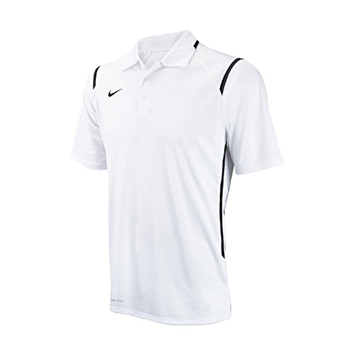 Button Front Game Jersey (Nike Men's Dri-Fit Game Day White/Black Short Sleeve Polo T-Shirt Sz: M)
