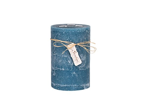 - Stonebriar Textured Pillar Candle, 5 by 8-Inch, Ocean