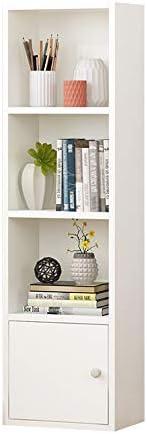 HAIYU- 本棚 - 4層コーナーディスプレイ棚、床置き木製保管棚ユニット、リビングルーム、寝室、書斎、オフィス用の子供用本棚、3色 (Color : White)
