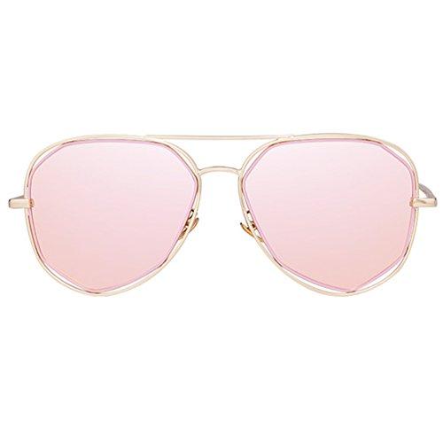 2018 de Sol Gafas de UV Redondas Red Sol solar Protección New de Gafas Marea Femenina de Modelos Femenina Polarizadas Espejo ZQ Gafas Estrella 7OqREBwRF