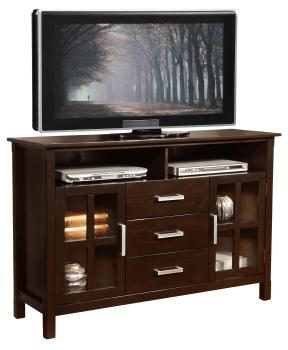 Amazon.com: Simpli Home Kitchener Tall TV Media Stand for TVs up to 60