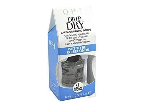 Drip Dry Lacquer Drying Drops Wet to set 60 seconds With FREE Dropper easy to use | size 0.3 fl oz / 9 ml ()