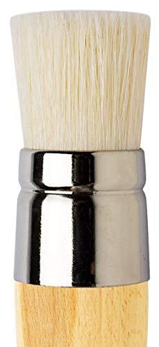 da Vinci Graphic Design Series 113 Stencil Brush, White Chinese Hog Bristle with Long Plainwood Handle, Size 24 (113-24) by da Vinci Brushes (Image #1)
