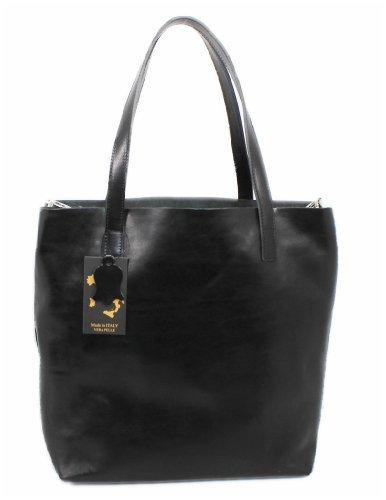 Nero Donna Leatherworld Groß Italy Borsa Tote RnnOwx