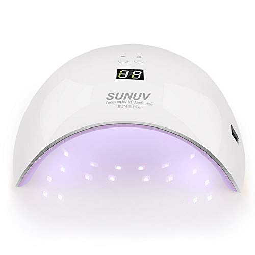 (Plus Nail Dryer For Gel Polish 36W Uv Lamp For Nails Led Lamp Curing Light Nail Art Machine Tools 110V - 240V 9xplus pink AU Plug)