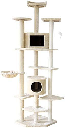 FTFDTMY Großer Katzenkletterrahmen, Tierbedarf Pass Tianzhu Kratzbaum Villa Katzenkratzsäule Sisal Katzenspielzeug (Farbe: C)
