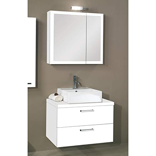 Iotti A18-Glossy White-637509906993 Aurora Collection Bathroom Vanity, Glossy White