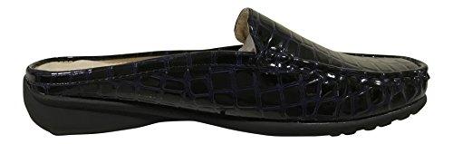 Dumas Vegan Croc Leather Mule Navy Croco Women's Patent Pierre Hazel On Slip 23 fdfa7