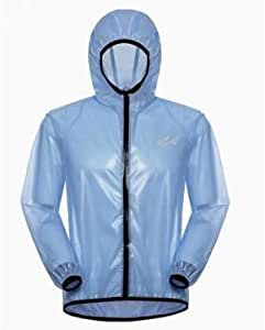 1 Pc- Outdoor UV Clothing Jackets Skin Raincoat Sun Protection Rainwear (Color:Blue-XL)