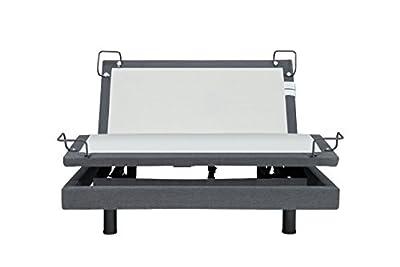 iDealBed Reverie 7S Adjustable Bed Base, Wireless, Wall Hugger, Massage, Bluetooth, Zero-Gravity, Queen