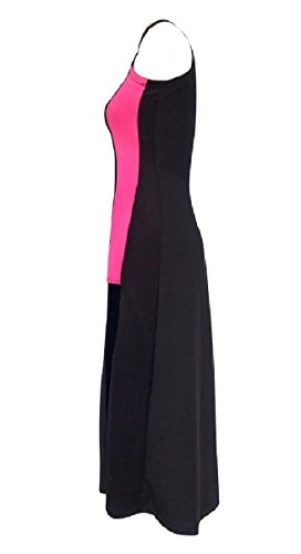 Semi Dress Women Coolred High Contrast Maxi Picture As Splice Slits high Collar p655qw