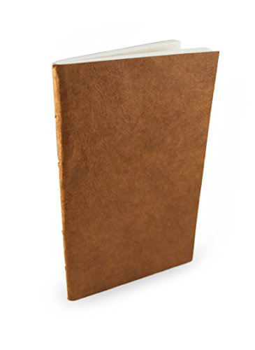 Nepali Companion Notebook with Handmade Paper and Vegetable-Dyed Cover. Made in Nepal (Medium, Terra Cotta)