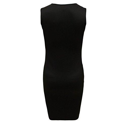 Envy Boutique - Vestido - para mujer Monochromer Aufdruck