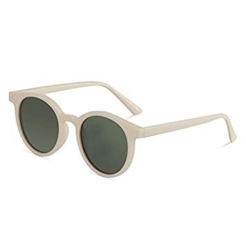 VVIIYJ Gafas de sol Lady Gafas de sol Redondas Pequeñas Caja ...