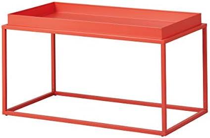 Perfect Inter Link Design salontafel in industriële stijl metaal oranje geschikt voor binnen en buiten lToKzIt