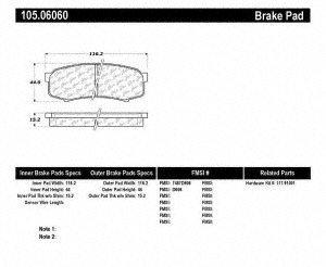 Centric 105.0606 Posi-Quiet Ceramic Brake Pad with Shims