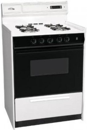 24'' Gas Range with Electric Ignition, Sealed Burners and Black Glass Door