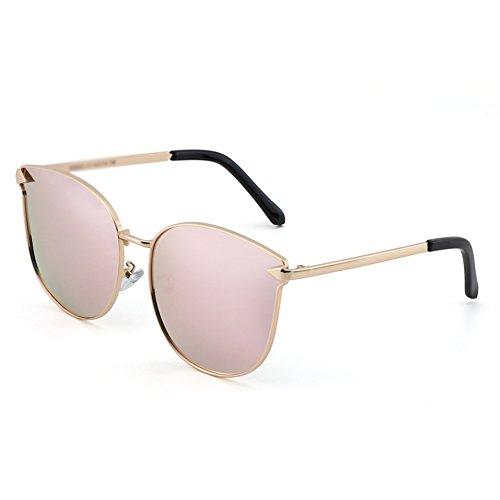 la la Gafas Sus de Gafas Señoras vidrios polarizador de Marea Color Ojos de Sol Sol de nuevos B Proteja Cara JIU de de Las B del Redondos Coreano Personalidad vd6qw1xS1