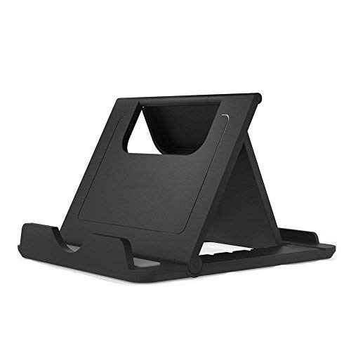 Cell Phone Stand, Tablet Stand, Asstar Universal Foldable Multi-angle Desktop Holder for Smartphone, Tablet(6-11), iPhone 8 X 7 6 6S Plus, Galaxy S9/S9 Plus/Note 8, Nintendo Switch, E-reader (1Pcs)
