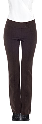 HOT FROM HOLLYWOOD Sexy Fitted Career Double Waist Trousers - Career Front Pants
